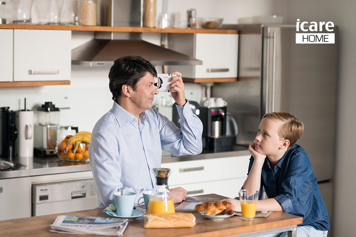 Icare HOME silmänpaineen mittaus kotona